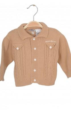 Cardigan tricot bej din bumbac Roca Baby, 6-9 luni