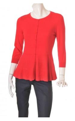 Cardigan rosu tricot fin H&M, marime L