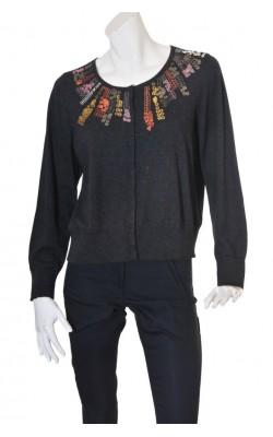 Cardigan tricot casmir cu broderie metalica Inwear, marime XL