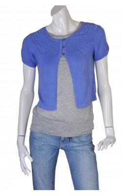 Cardigan tricot fin Marie Philippe, panou ajurat, marime 36