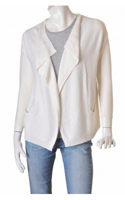 Cardigan drapat tricot fin texturat Mango Suit, marime M