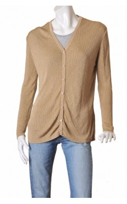 Cardigan tricot fir metalic auriu Woman's Wardrobe, marime XL