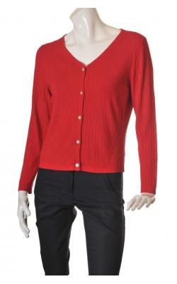 Cardigan tricot rosu Divino, marime 40