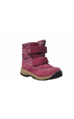 Cizme roz cu gri Viking piele Gore-Tex, marime 28