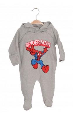 Salopeta fleece Marvel Spider-Men, polar, 3-6 luni