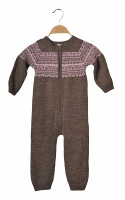Combinezon tricotat lana pura Name It, 2-3 ani
