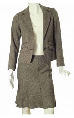 Costum office Cubus din stofa amestec lana, marime 36