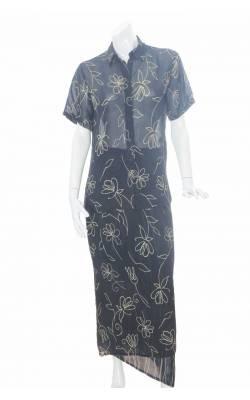 Costume negru print floral galben Choise, marime 42