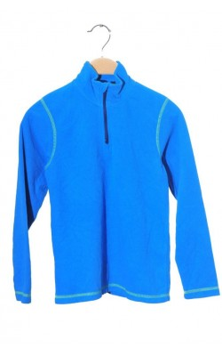 Fleece bleu cusaturi fistic, 8 ani