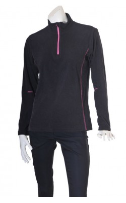 Fleece negru Line One, marime XL