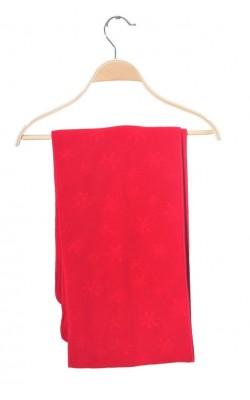 Fular fleece rosu Jean Paul, strat dublu, 176 cm