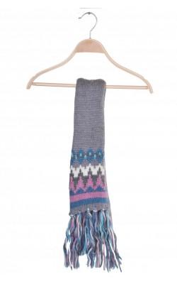 Fular gri cu roz Accessories by Lindex, amestec lana