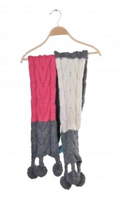 Fular lung Westhill RedBird by Bik Bok, tricot gros si moale