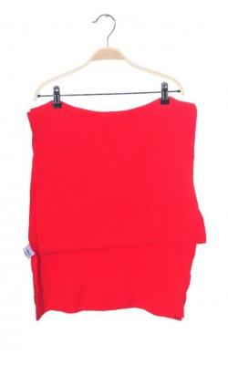 Fular rosu Anette, lana oaie si angora, 180 cm