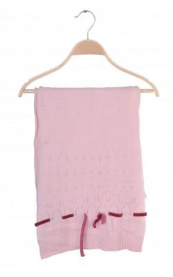 Fular roz din lana angora