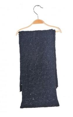 Fular tricot cu lurex ajurat Artwork, 164 cm