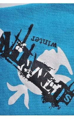 Fular tricot dublu strat, cu imprimeu