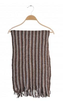 Fular tricot gros Benetton, amestec lana