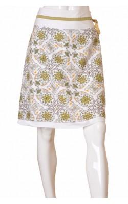 Fusta alba print floral Vero Moda, cordona catifea, marime 38