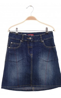 Fusta asimetrica denim stretch Check This by Lindex, 13 ani