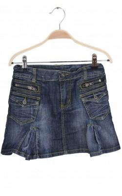 Fusta denim cusaturi fistic Iyshi Jeans, 9 ani