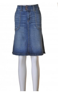 Fusta denim stretch Vero Moda, fente laterale, marime S