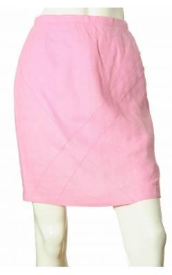 Fusta dreapta de in Tara, culoare roz intens, marime 38