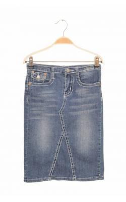 Fusta dreapta denim subtire NoFuze Jeans, 10 ani