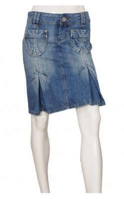 Fusta denim Fishbone, marime S