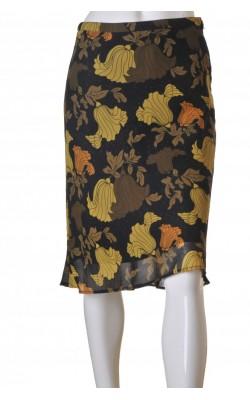 Fusta chiffon cu print floral H&M, marime 36