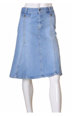 Fusta in clini denim stretch H&M, marime 42