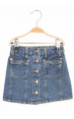 Fusta in clini din denim Kids-Up, nasturi metalici fata, 4 ani