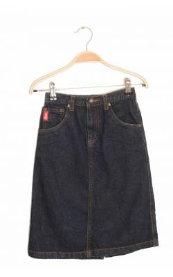 Fusta lunga denim bleumarin French Toast, 6 ani