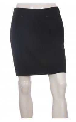 Fusta neagra Donna Karan New York, lana pura, marime 40
