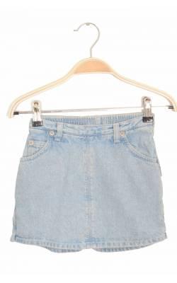Fusta-pantalon din denim bleu prespalat OshKosh, 6 ani