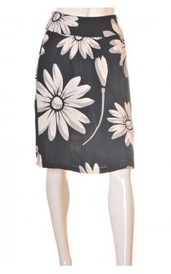 Fusta print floral H&M, marime 40