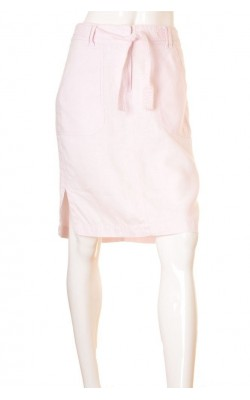Fusta roz pal din panza de in H&M, marime 42