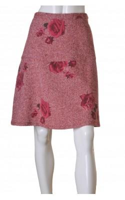 Fusta stofa lana cu trandafiri Lyst, marime 44