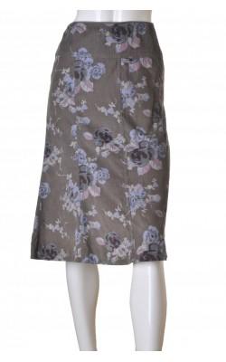 Fusta velur subtire cu imprimeu floral H&M, marime 42