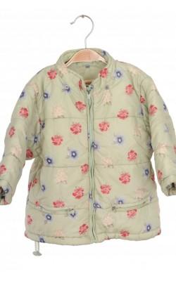 Geaca matlasata print floral H&M, 18 luni
