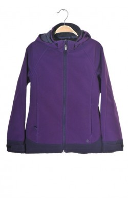 Geaca mov softshell H&M, captuseala fleece, 11-12 ani