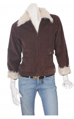 Jacheta matlasata din catifea reiata Roxy, marime 36