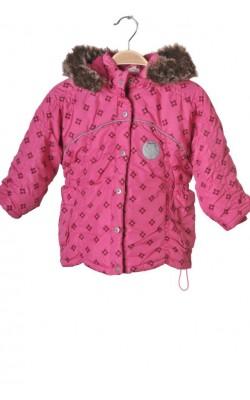 Geaca roz matlasata Claire, 3-4 ani
