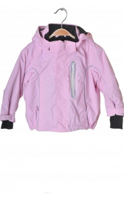 Geaca roz vatuita H&M, gluga detasabila, 12-18 luni