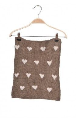 Guler cu inimioare, tricot calduros