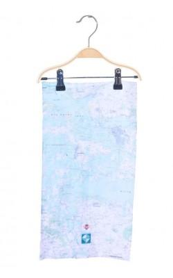 Guler schi alb, imprimeu harta
