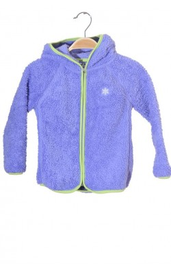 Hanorac mov fleece Ahkka, 5-6 ani