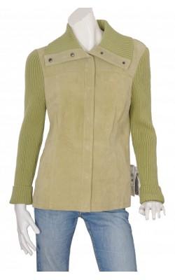 Jacheta piele si tricot reiat Bagatelle, marime XL