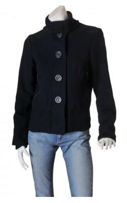 Jacheta bleumarin tesatura lana Vero Moda, marime 42