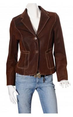 Jacheta din piele naturala Soho New York, marime 40
